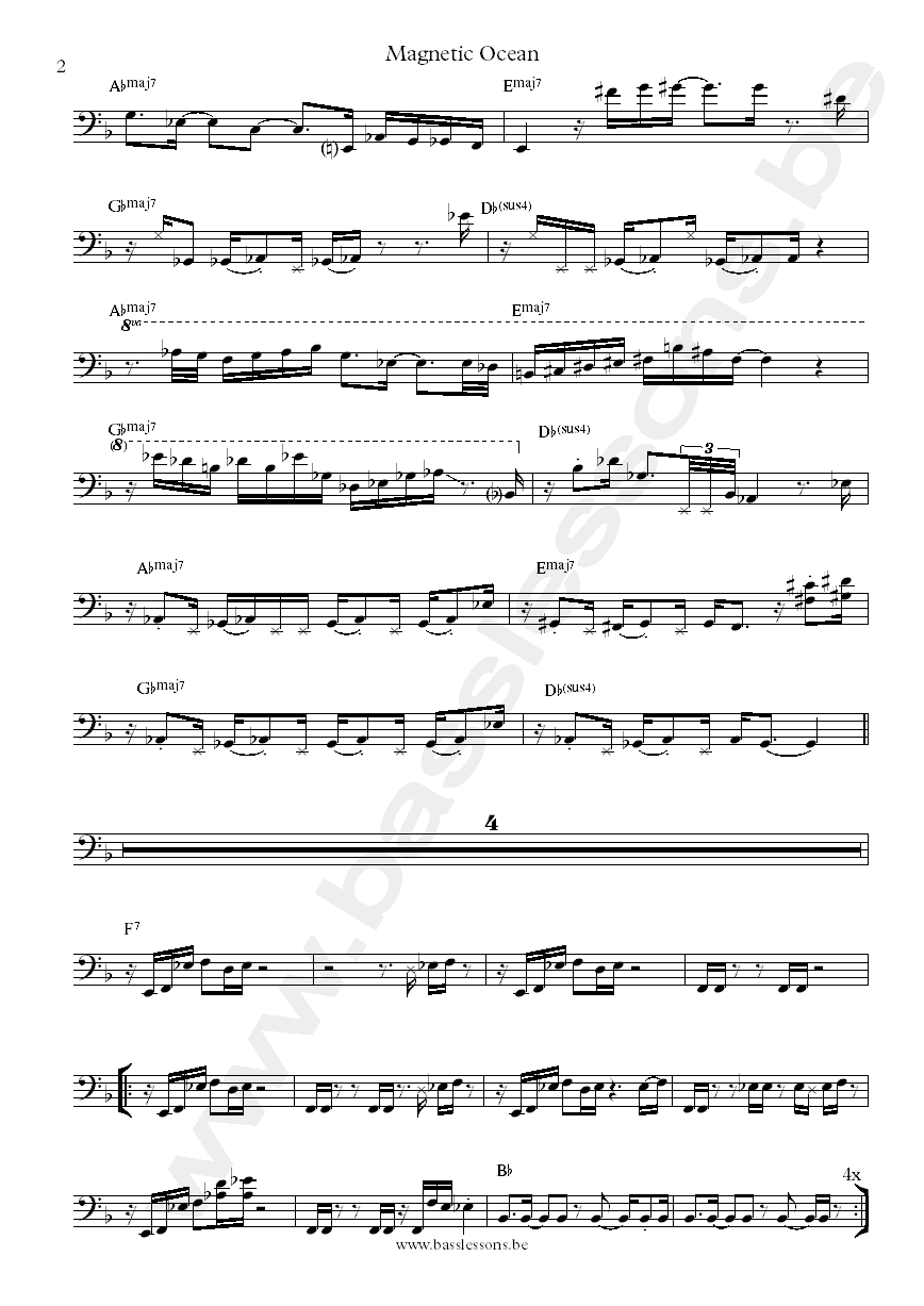 Incognito magnetic ocean bass transcription part 2