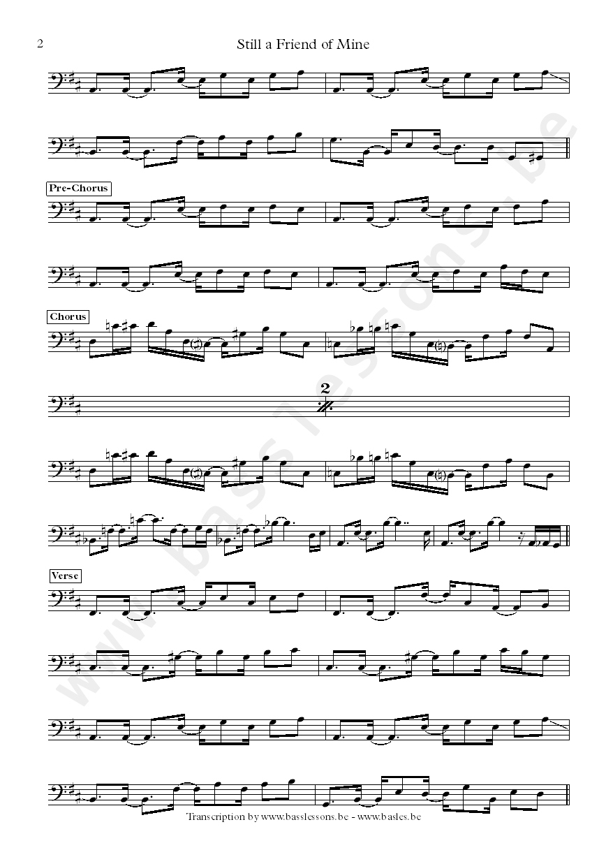Randy Hope-Taylor bass transcription