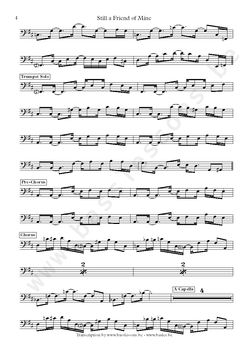 Incognito bass transcription