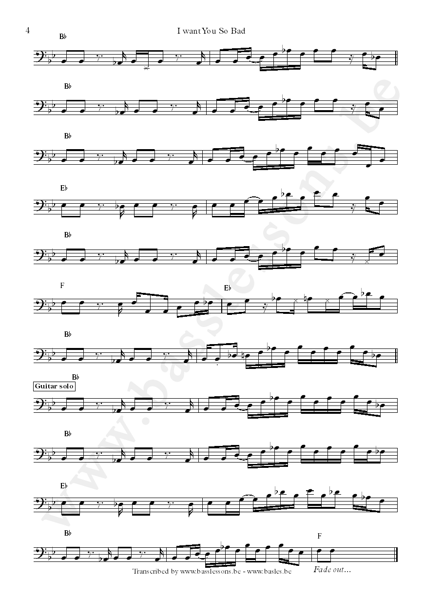 B.B. King and Jerry Jemmott bass transcription