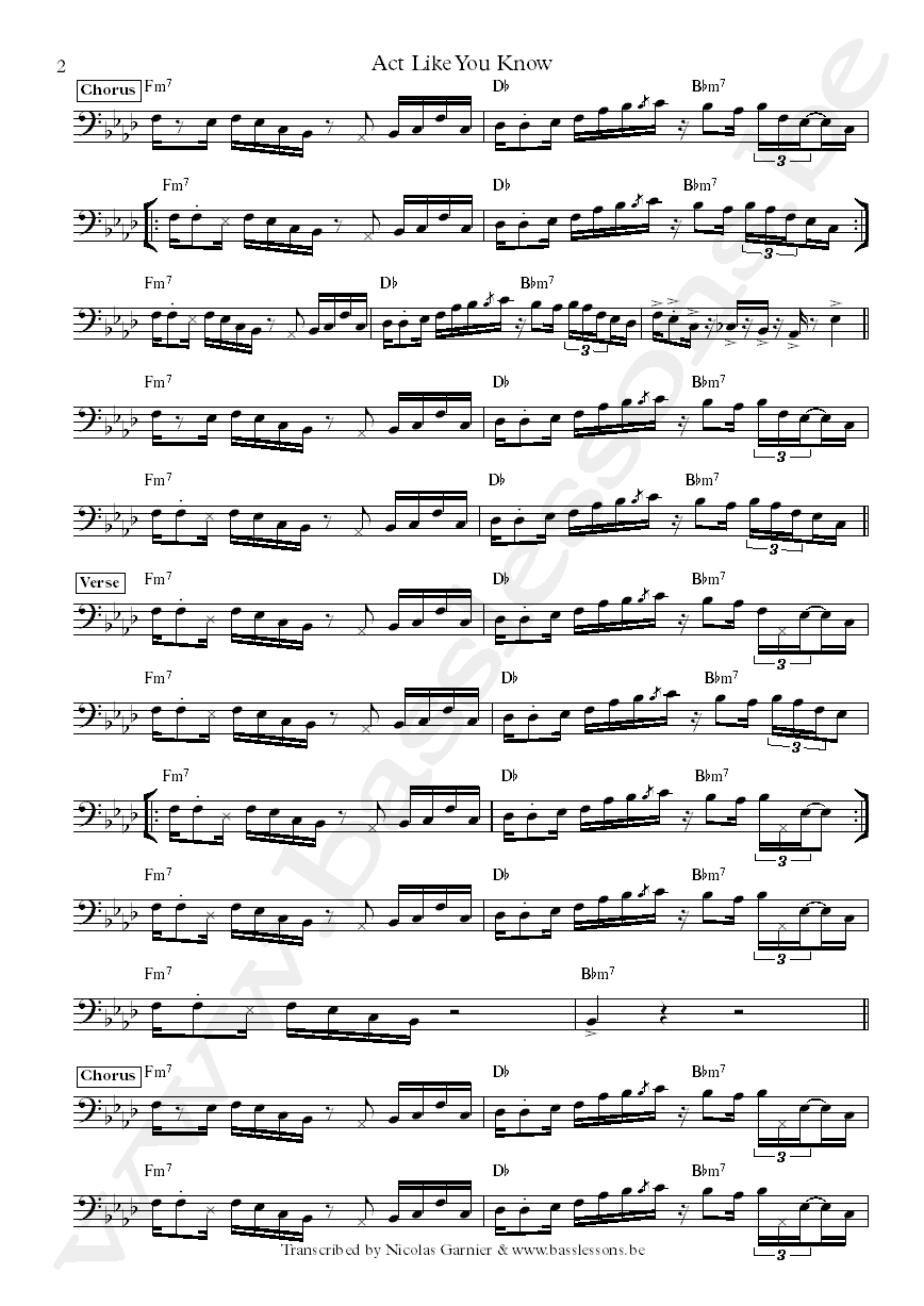 Fat larrys band sheet music