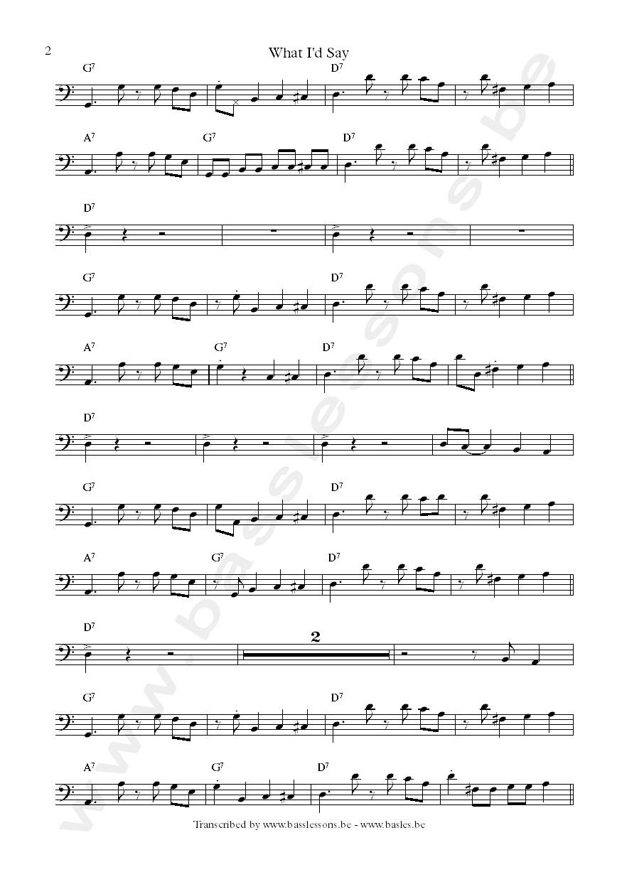 Jerry Jemmott transcription