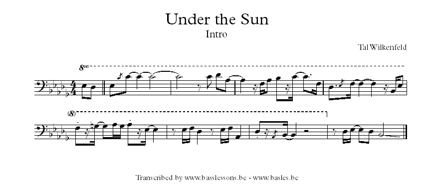 Tal Wilkenfeld under the sun bass transcription