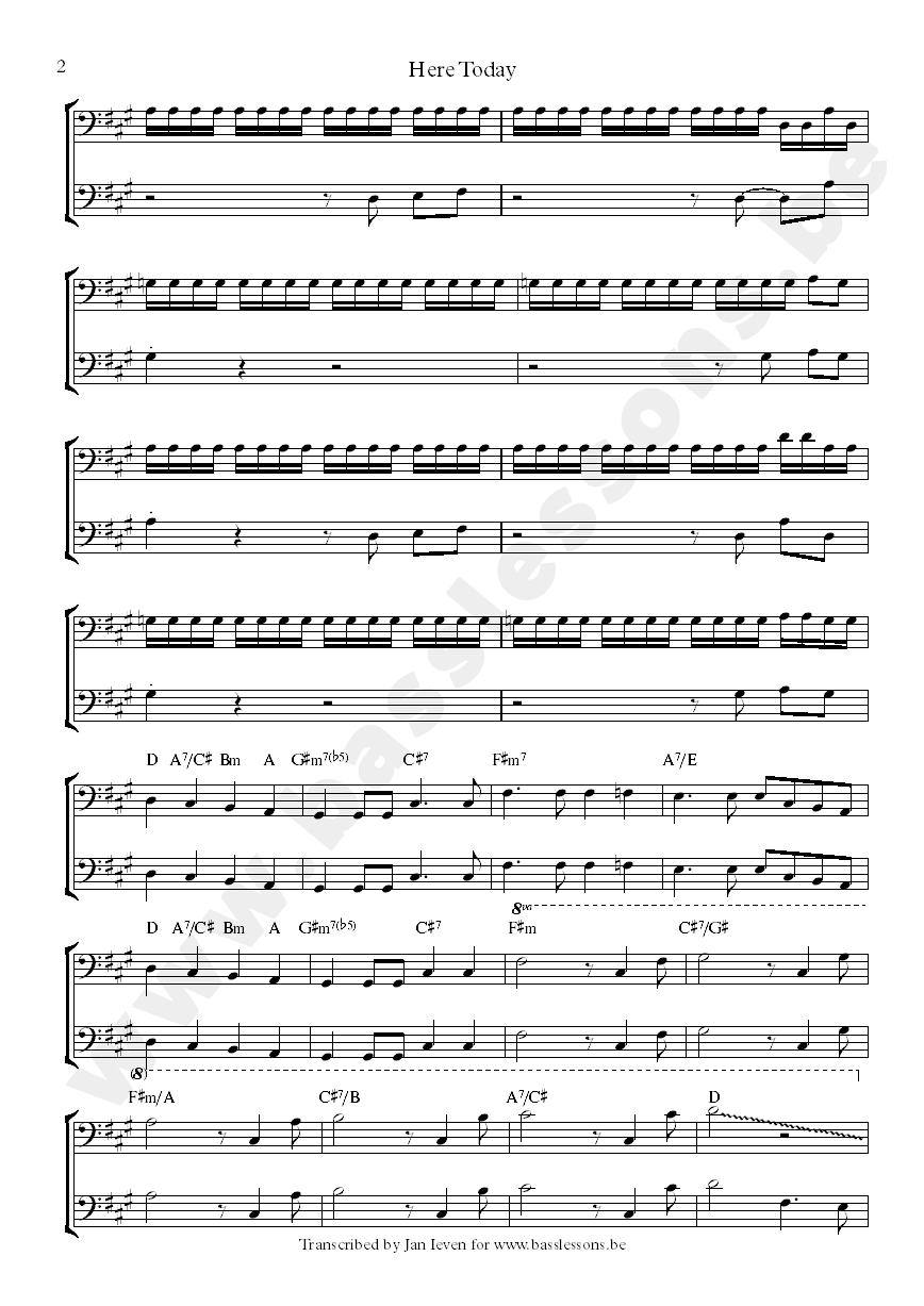 beach boys here todat sheet music