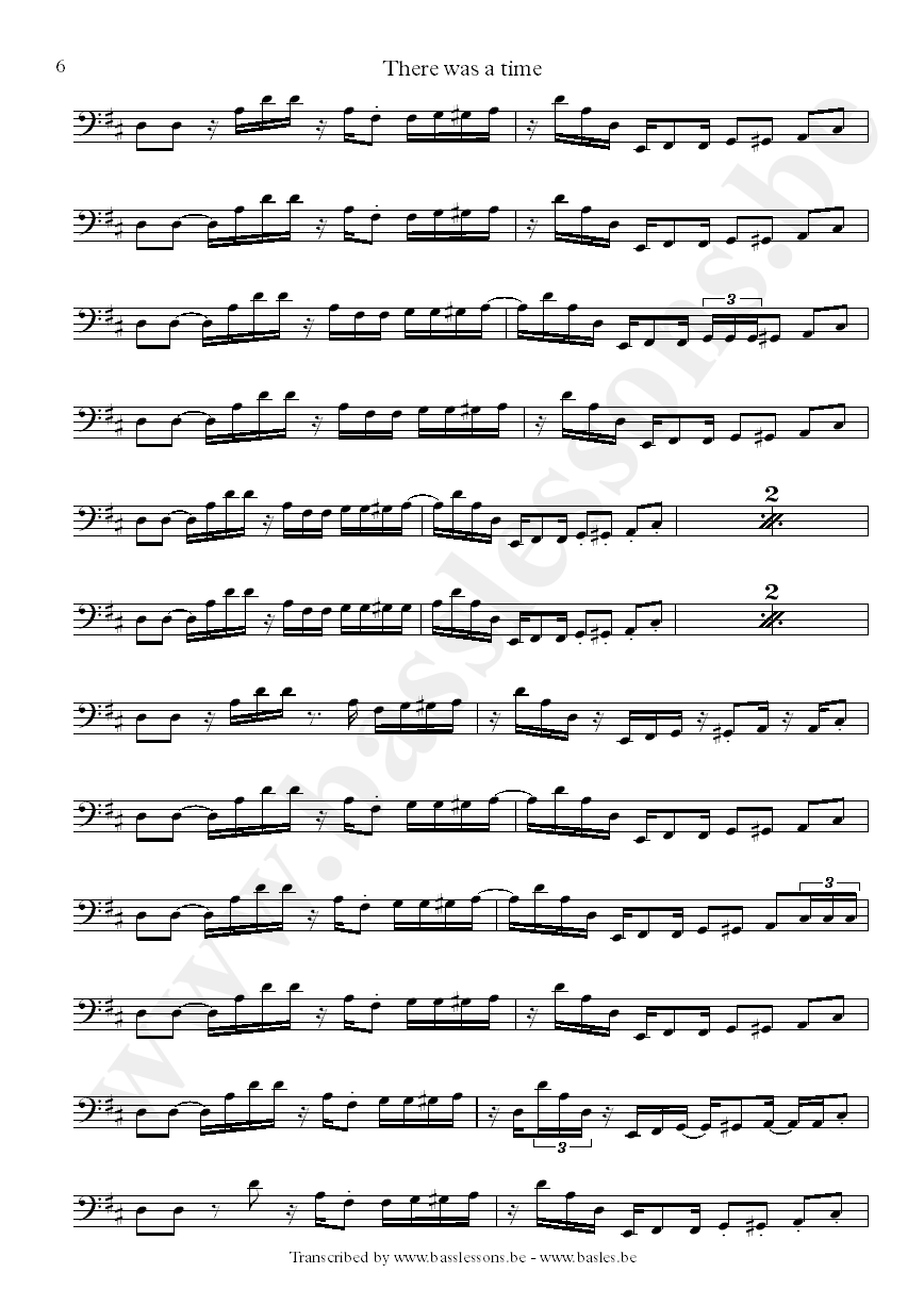 James brown there was a time bass transcription part 6