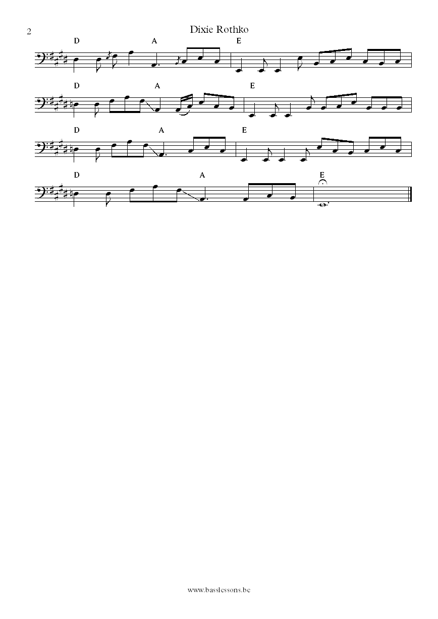 St paul and the broken bones dixie rothko bass transcription part 2