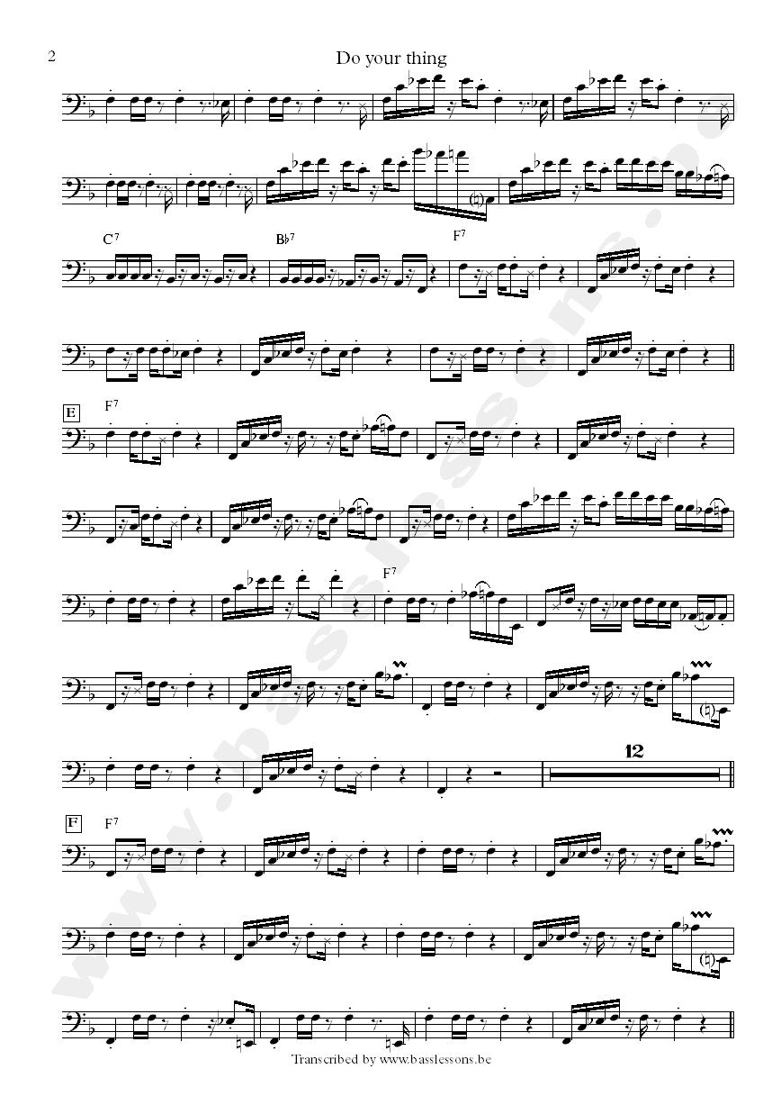 Marion gaines singers bass transcription part 2
