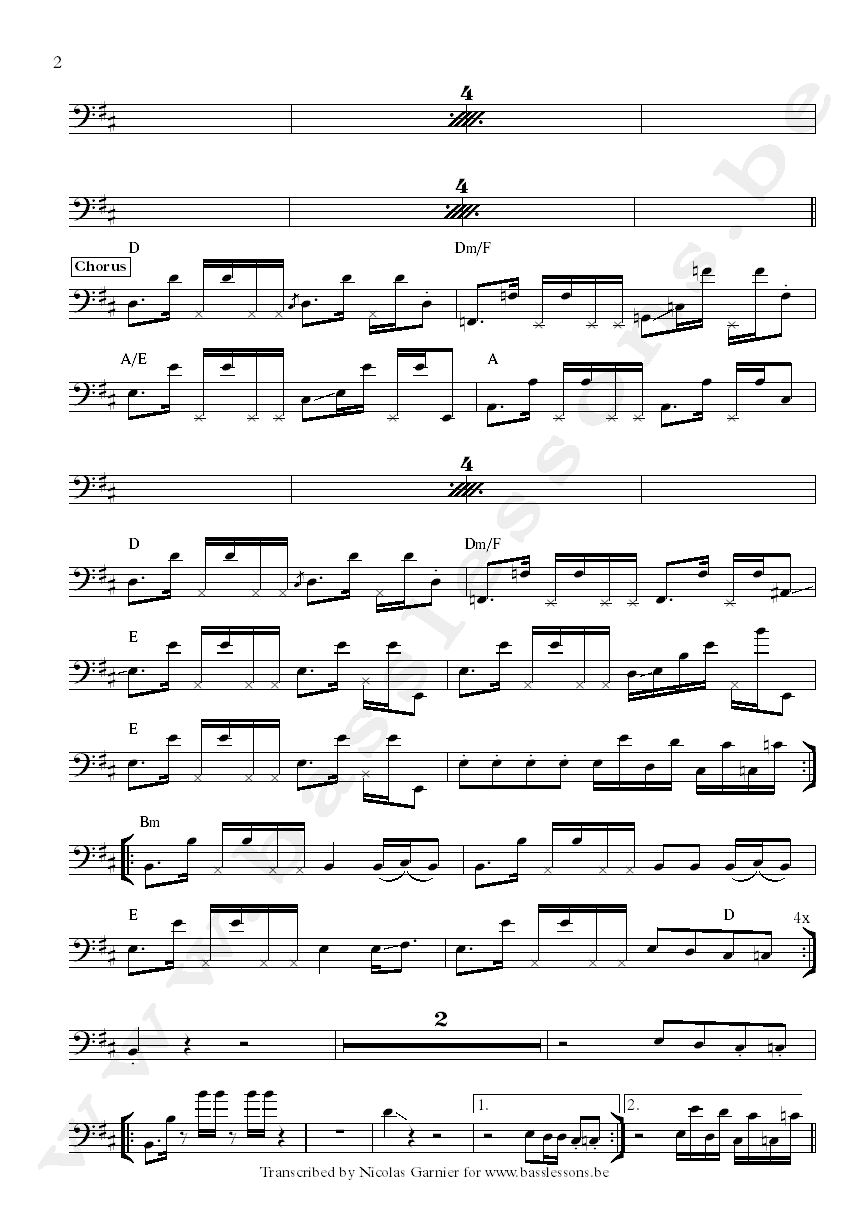 Crown heights affair you gave me love bass transcription part 2