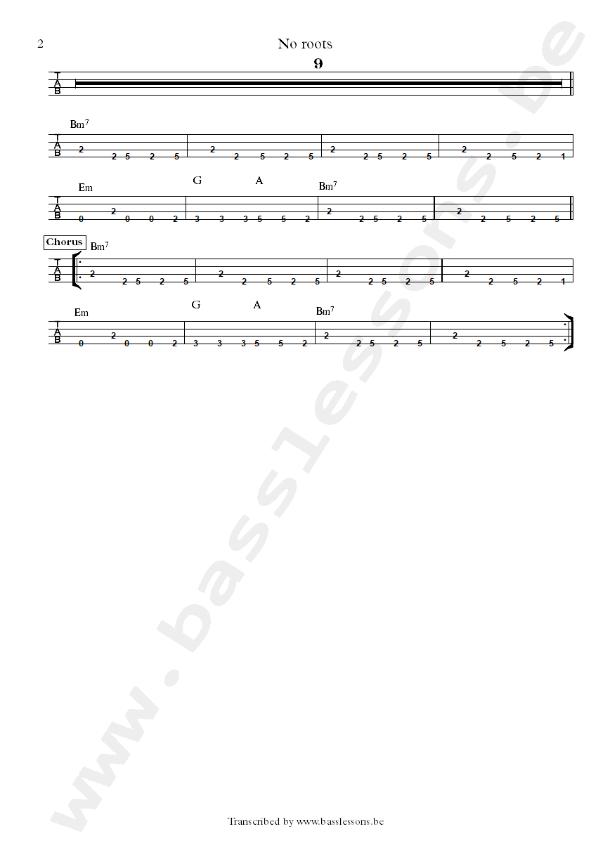 Alice Merton no roots bass tab part 2