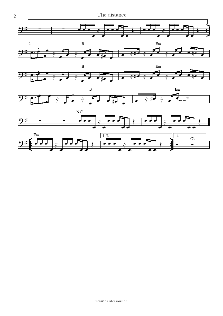 Cake The distance Victor  bass transcription part 2