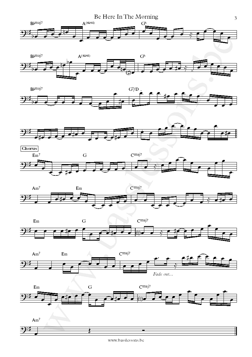 Joy Denalane Be Here In The Morning bass transcription part 3