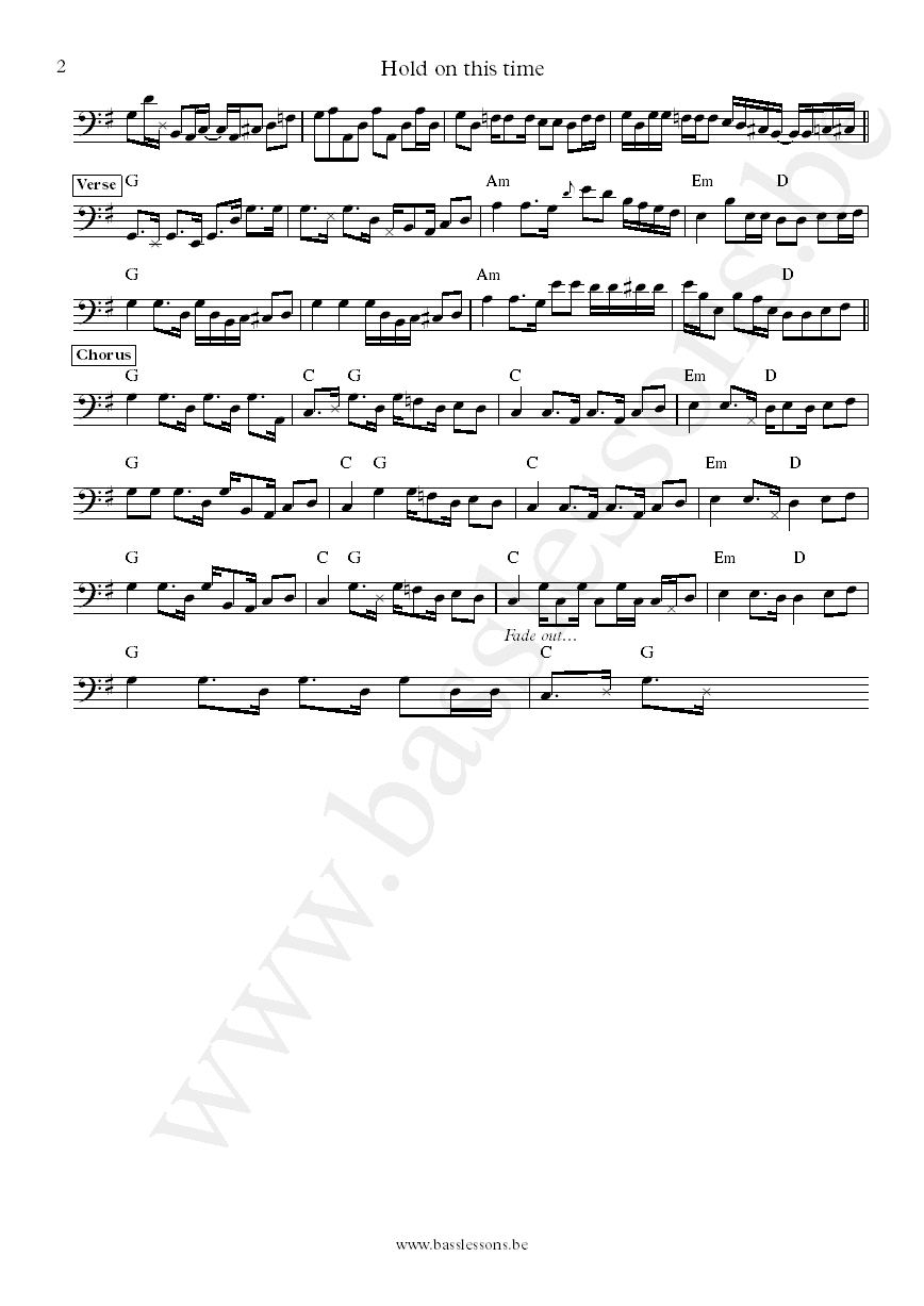 Fontella Bass Hold on this time bass transcription part 2
