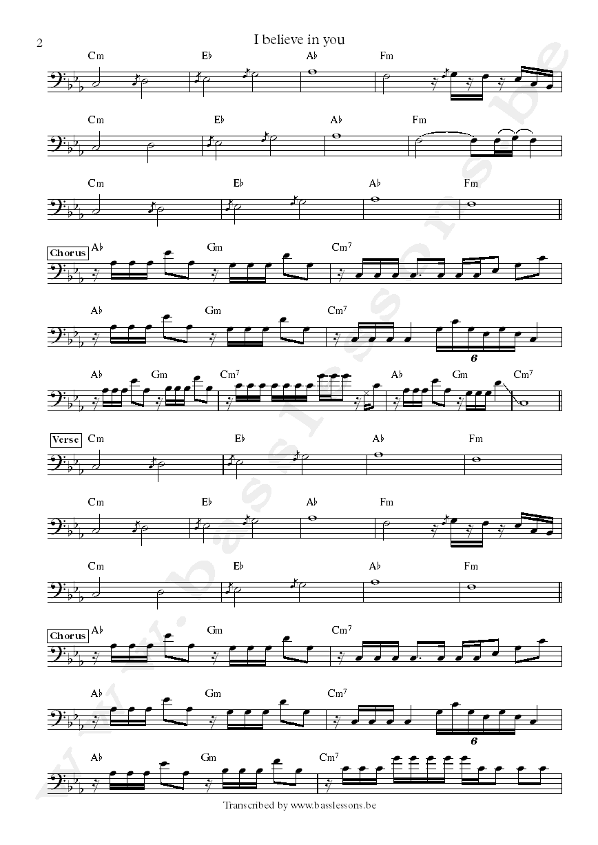 Daryl Johnson Bass Transcription