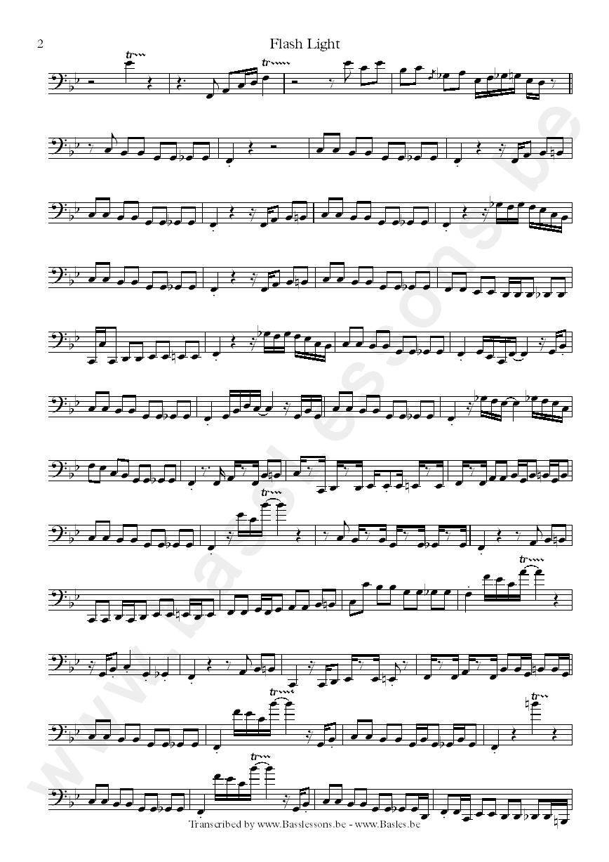 Parliament sheet music